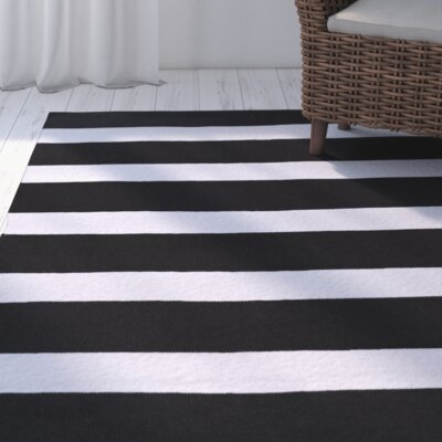 Concord Black/Ivory Indoor/Outdoor Area Rug Rug Size: 2 x 3