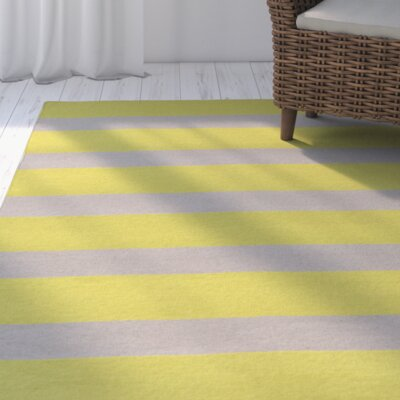 Peugeot Lime/Light Gray Indoor/Outdoor Area Rug Rug Size: Rectangle 36 x 56