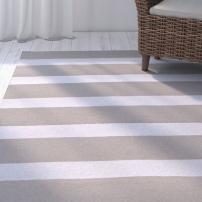 Peugeot Gray/Ivory Indoor/Outdoor Area Rug Rug Size: 2 x 3
