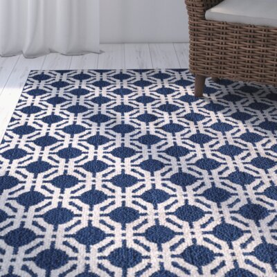 Breakwater Bay Sandlewood Blue/White Area Rug