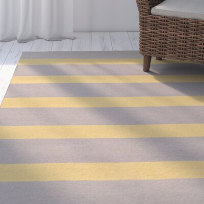 Peugeot Gold/Light Gray Indoor/Outdoor Area Rug Rug Size: 36 x 56