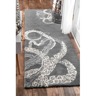 Greenridge Hand-Tufted Gray/White Area Rug