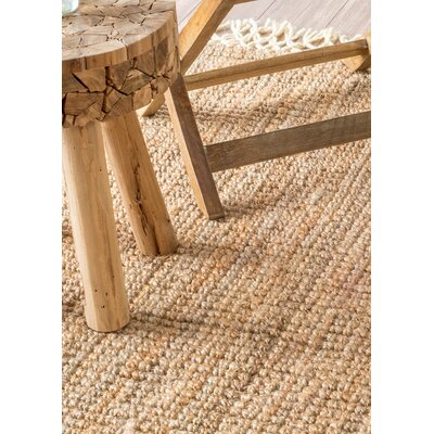 Lyndsey Hand-Woven Brown Area Rug Rug Size: Rectangle 6 x 9