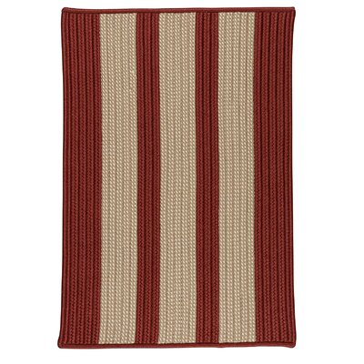 Seal Harbor Rust Red Indoor/Outdoor Area Rug Rug Size: Square 10