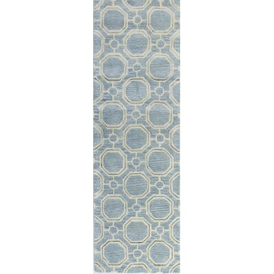 Thomasville Hand-Tufted Light Blue Area Rug Rug Size: Runner 2'6