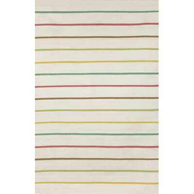 Torington Candy Stripe Neutral Indoor/Outdoor Area Rug Rug Size: Rectangle 83 x 116