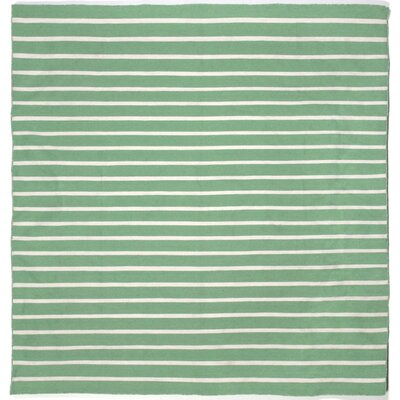 Torington Pinstripe Aqua Indoor/Outdoor Area Rug Rug Size: Square 8'