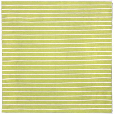 Torington Pinstripe Lime Green/Ivory Indoor/Outdoor Area Rug Rug Size: Square 8'