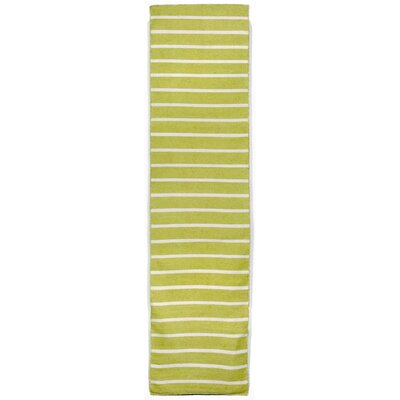 Ranier Hand-Woven Lime/Green/Ivory Indoor/Outdoor Area Rug Rug Size: 83 x 116