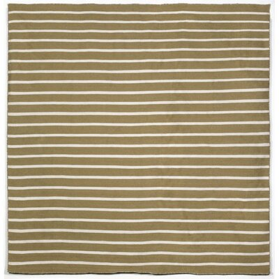 Torington Hand-Woven Pinstripe Khaki Indoor/Outdoor Area Rug Rug Size: Square 8