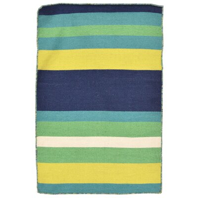 Torington Hand-Woven Green Indoor/Outdoor Area Rug Rug Size: 5 x 76