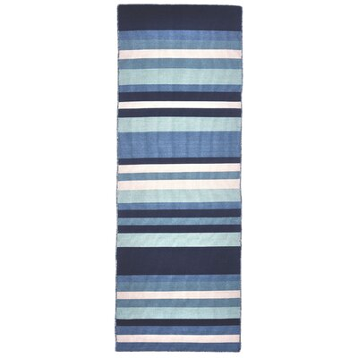 Torington Tribeca Hand-Woven Blue Indoor/Outdoor Area Rug Rug Size: Runner 2 x 8