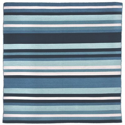 Ranier Hand-Woven Blue Indoor/Outdoor Area Rug Rug Size: Square 8