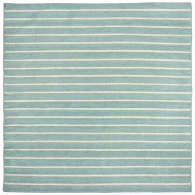 Ranier Pinstripe Hand Woven Blue Indoor/Outdoor Area Rug Rug Size: Square 8