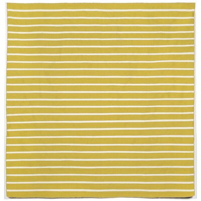Ranier Pinstripe Hand-Woven Yellow/Ivory Indoor/Outdoor Area Rug Rug Size: Square 8
