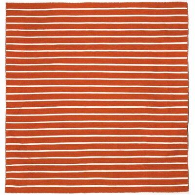 Torington Pinstripe Hand-Woven Paprika Orange Indoor/Outdoor Area Rug Rug Size: Square 8