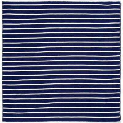 Ranier Pinstripe Hand-Woven Navy Indoor/Outdoor Area Rug Rug Size: Square 8