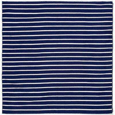 Ranier Pinstripe Hand-Woven Navy Indoor/Outdoor Area Rug Rug Size: Square 8