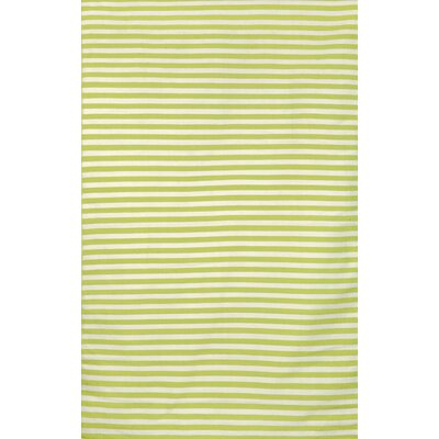 Breakwater Bay Torington Mini Stripe Lime Indoor/Outdoor Area Rug