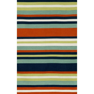 Ranier Hand-Woven Multi-Colored Indoor/Outdoor Area Rug Rug Size: 36 x 56