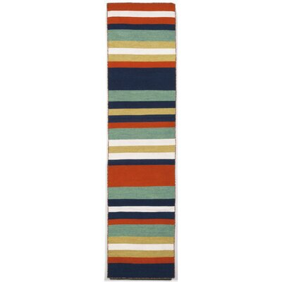 Ranier Hand-Woven Multi-Colored Indoor/Outdoor Area Rug Rug Size: Runner 2 x 8
