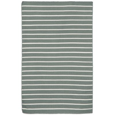 Torington Pinstripe Hand-Woven Grey Indoor/Outdoor Area Rug Rug Size: 76 x 96