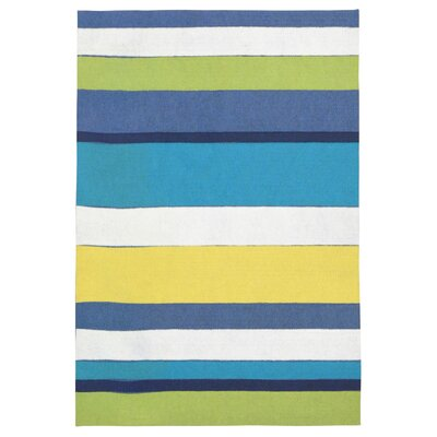 Allard Bay Garden Stripe Mat Color: Blue