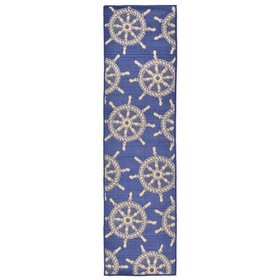 Valero Blue Indoor/Outdoor Area Rug Rug Size: Runner 111 x 76