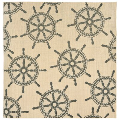Valero Natural Indoor/Outdoor Area Rug Rug Size: 4'10