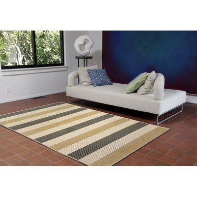 Valero Stripe Beige/Gray Indoor/Outdoor Area Rug Rug Size: 1'11