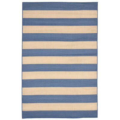 Breakwater Bay Valero Blue Indoor/Outdoor Area Rug