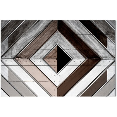 Breakwater Bay Wood Diamond Dark Graphic Art