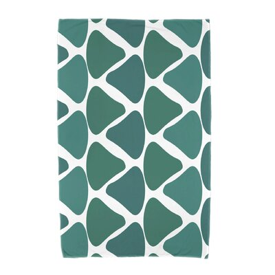 Watermelon Seeds Beach Towel Color: Teal