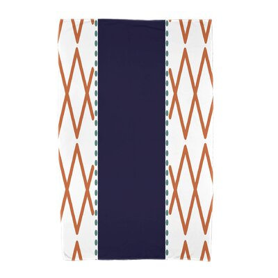 Knot Fancy Beach Towel Color: Orange