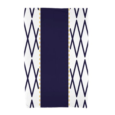 Knot Fancy Beach Towel Color: Navy Blue