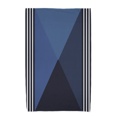 Nautical Angles Beach Towel Color: Navy Blue