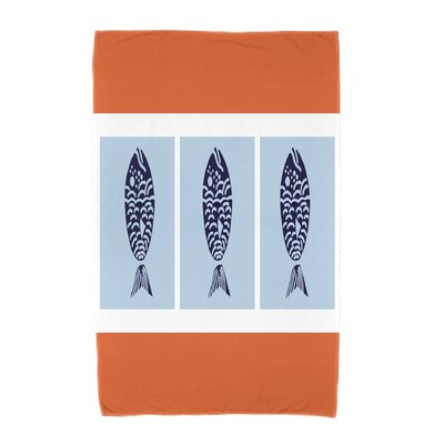 Fish Chips Beach Towel Color: Orange