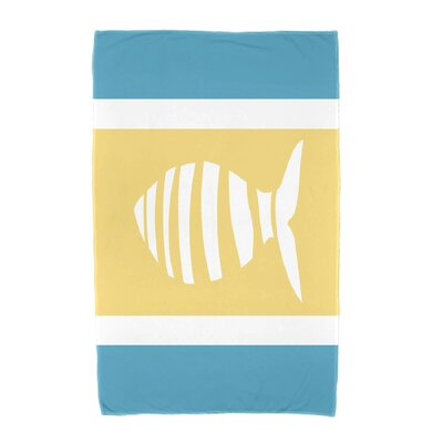 Puzzle Fish Beach Towel Color: Turquoise