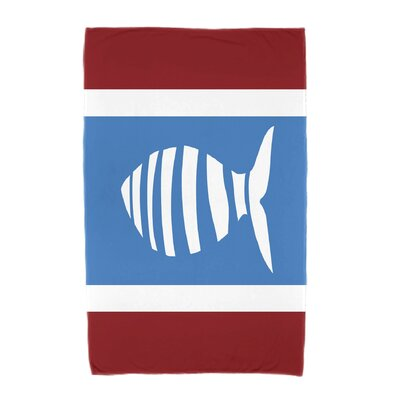 Puzzle Fish Beach Towel Color: Red