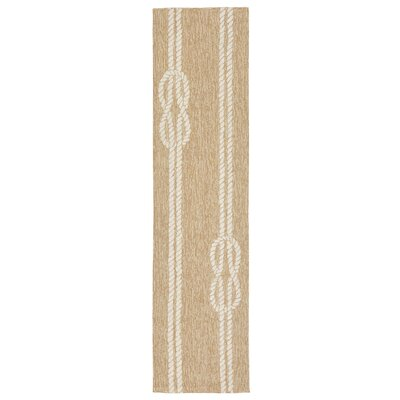 George Hand-Tufted Neutral Indoor/Outdoor Area Rug Rug Size: 36 x 56