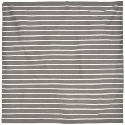 Ranier Pinstripe Hand-Woven Grey Indoor/Outdoor Area Rug Rug Size: Square 8
