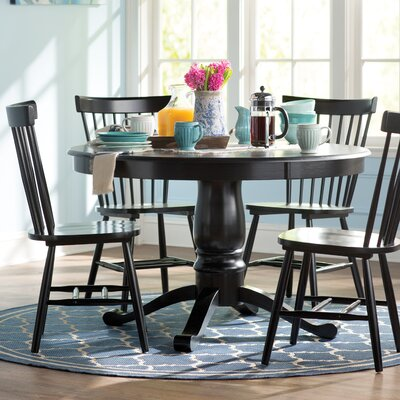 Royal Palm Beach 5 Piece Dining Set Finish: Black