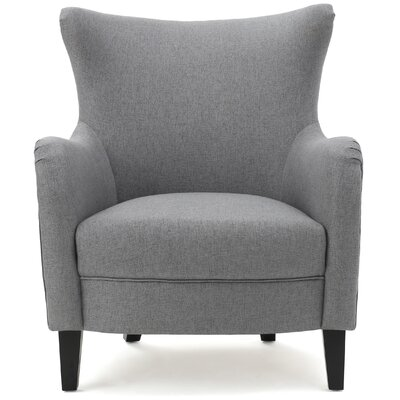 Nisha Fabric Club Chair Upholstery: Gray
