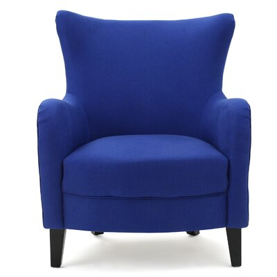 Nisha Fabric Club Chair Upholstery: Royal Blue