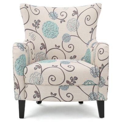 Nisha Fabric Club Chair Upholstery: Beige