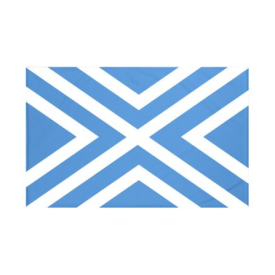 Jackson Geometric Print Throw Blanket Size: 60 L x 50 W, Color: Azure (Blue)