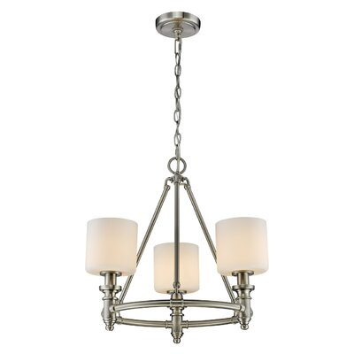 Mummert 3-Light Shaded Chandelier Color: Pewter