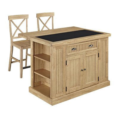Rabin Kitchen Island Set with Granite Top