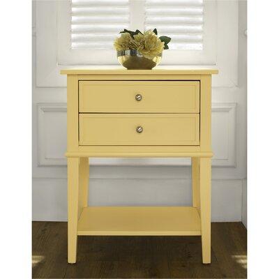Winfield 2 Drawer End Table Finish: Yellow