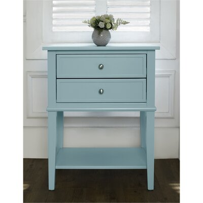 Banbury 2 Drawer End Table Finish: Blue